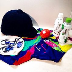 Daily essentials of our #Olympic #swimmer @emiliapikkarainen. What kind of products do you carry with you wherever you go? #cocomaxfin #teamcocomax #swimsuit #coconutwater #swimming