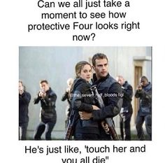 I notecied it too. I was laughing and my Mum asked why so i told her to look at how protective Tobias looks