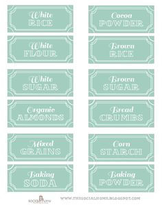 free printable pantry labels, part 1