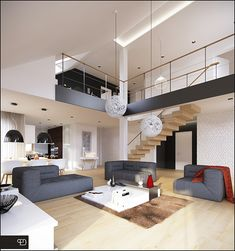 Interior project and visualizations of a housing project created by Domy z Wizja studio called Doskonaly 3.