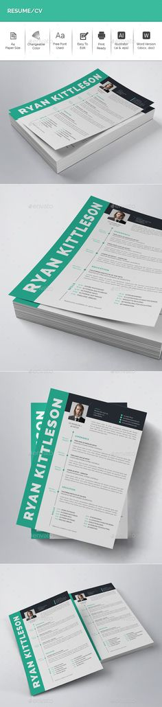 Resume Template Ai illustrator, Resume cv and Cv template - cvs resume paper