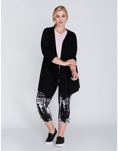Open-Front Spa Hoodie | Lane Bryant