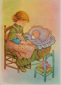 My Wishlist - Ekaterina Chistyakova - Picasa Web Albums Vintage Cards, Vintage Images, Cosy Christmas, Baby Illustration, Spanish Artists, Holly Hobbie, Vintage Artwork, Cute Dolls, Vintage Dolls