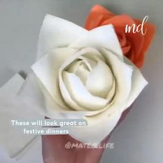 Diy Crafts For Girls, Diy Home Crafts, Diy For Kids, Fun Crafts, Napkin Folding, Gifts For Office, Paper Flowers Diy, Simple Christmas, Diy Tutorial