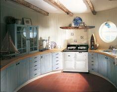 2-oven 30-amp AGA in white Roomset