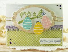 Inspired by Stamping, Joanna Munster, Easter stamp set, Sweet Aviary stamp set, Easter card