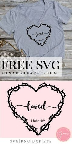thorn heart loved free svg