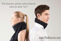 Portez votre #minerve ou collier cervical sans en avoir l'air ! Housse pour minerve façon écharpe ou snood.  Douceur, léger, confortable, technique #technologique #soie #cachemire #microModal #noir #bleuIndigo #vertAnis #bleuNavy . Propriétés hydratantes apaisantes pour réconforter votre peau. #thermoregulation et autre sur www.thekoocare.com #madeInFrance