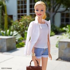 "Style tip: wearing a blazer ""editor style"" can elevate any look! #barbie #barbiestyle"