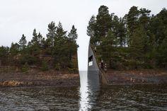 Wond in Noors landschap ter herinnering. Beeld: Jonas Dahlberg Studio