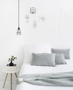 Calming white bedroom
