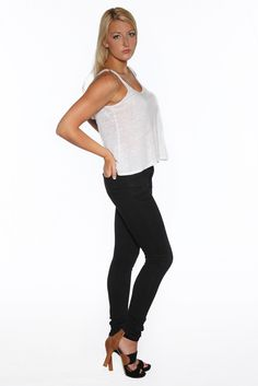 New for our Fall 2014 Collection is our Women's washed black skinny j eans. See the whole collection now at www.marcnelsondeniom.com