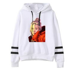 Black Friday Christmas Women clothes hoody ladies billie eilish Cartoon Image of American Fashion Singer Printed New pattern hoodies women kawaii Billie Eilish, Printed Sweatshirts, Mens Sweatshirts, Hoodies, Pullover, Sweater Hoodie, Clothes For Women, Sweaters, Outfits