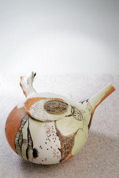 Shannon Garson rockpool teapot, 2012 - Porcelain, terra sigillata, glaze, underglaze, oxide. | Flickr