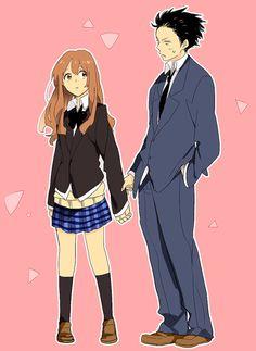 girl and boy, love anime, and couple anime image