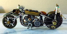 Steel Horse Steampunk motor cycle