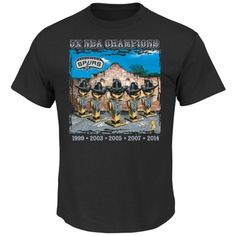 San Antonio Spurs Majestic 2014 NBA Finals Champions Trophy Life T-Shirt - Black
