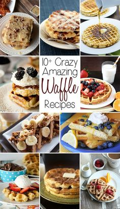 10+ Amazing Waffle Recipes #NationalWaffleDay #CelebratingFood2015