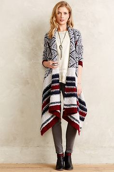 Zig Jacquard Cardigan - anthropologie.com