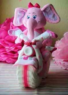 Motorcycle Diaper Cake Tutorial such A Cute Baby Shower Gift #Child Care #Trusper #Tip