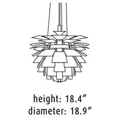 Artichoke lamp dimensions