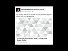Denver Real Estate News August 9th 2016 - Christopher Gibson