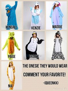 The onesie they would wear! Comment your fav and if I should do more