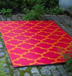 """Outdoor-Teppich  """"Tangier"""" orange & rot (120x180cm) für 69,- EUR"""