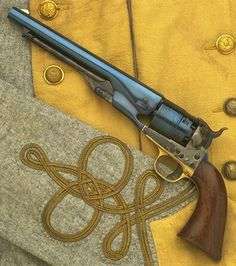 The Uberti 1860 Army Colt. The Uberti Colt was adopted as the premier U.S. government ordnance because of its lighter weight, improved balance, and superior ballistics. This 6-shot, .44 caliber, round-barrel percussion revolver became very popular with mounted troops on both sides in the War of Northern Aggression, and went on to be the standard issue sidearm for the U.S. Army for many years afterward.