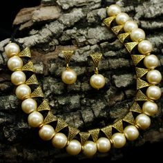 Elegant Beige Pearls With Bails Gold Plated Bail Choker Necklace With Dhori Necklace Set, Necklace Lengths, Pearl Necklace, Silk Bangles, Bollywood Jewelry, Jewelry Necklaces, Jewellery, Designer Earrings, Indian Jewelry