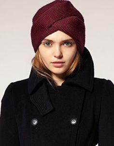 Asos Slot Through Turban - ShopStyle Hats Turban Mode, Turban Hut, Turban Style, Cute Headbands, Turban Headbands, Knitted Headband, Knitted Hats, Asos, Knitting Accessories