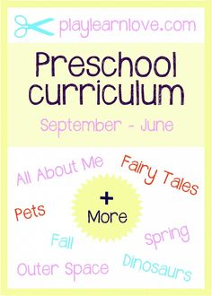2013 – 2014 Preschool Curriculum
