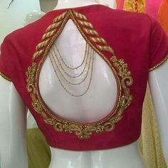 Saree blouse neck designs stitching dress - Brookline Сlick here pictures Blouse Back Neck Designs, Best Blouse Designs, Sari Blouse Designs, Bridal Blouse Designs, Blouse Patterns, Dress Designs, Choli Designs, Mehndi Designs, Sari Bluse
