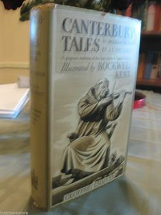 1934 Canterbury Tales Geoffrey Chaucer Illustrated by Rockwell Kent