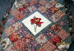 ROSE-RED QUEEN BED QUILT - Media - Quilting Daily - Noelene