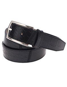 FLATSEVEN Mens Casual Crocodile Emboss Leather Belt with Square Single Silver Metal Buckle (Y408), Black FLATSEVEN http://www.amazon.com/dp/B00OHSKSMG/ref=cm_sw_r_pi_dp_0D01ub0MH302T