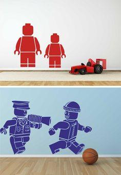 Muurstickers Lego Bunny Room, Lego Wall, Teenage Room, Binky, Awesome Bedrooms, Kidsroom, Legos, Kids Boys, Wall Stickers