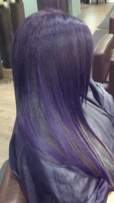 Purple ombre extensions she by socap #danielledoesmyhair