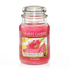 Pink Dragon Fruit Large Jar. LOVE THIS!!! My first ever Yankee Candle!!! Now I am HOOKED!!!!