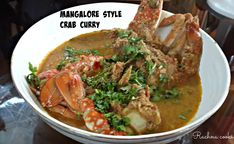 This is a tasty Mangalore style crab curry that is mildly spicy and really very delcious. If you enjoy crab, do try this recipe. Crab Recipes, Indian Food Recipes, Ethnic Recipes, Best Curry, Mangalore, Masala Recipe, Fish Dishes, Stop Eating, Spicy