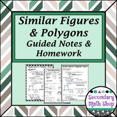 Similarity geometry notes and homework