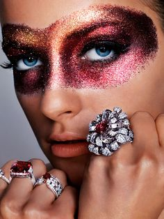 Bling Rings - BEAUTY BAZAAR: Make dramatic eye looks last with Nars Pro-Prime Smudge Proof Eyeshadow Base ($26). From right: Van Cleef & Arpels ring, price upon request, vancleefarpels.com; Harry Winston ring, price upon request, 212-399-1000; Martin Katz ring, price upon request, 310-276-7200; Harry Winston ring, price upon request, 212-399-1000; KENNETH WILLARDT