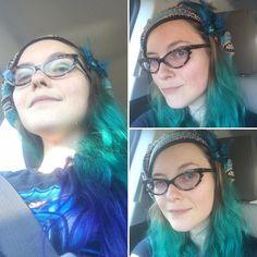 Hair leveled up again.  #nofilter #mermaidselfie #peacockhairdontcare by sjtuckermusic