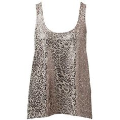 Forever New Georgia Metallic Knit Tank ($42) ❤ liked on Polyvore