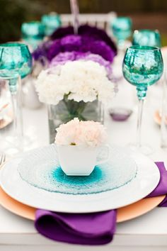 Look how great these colors are. Great for spring. teal and purple!