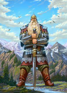 ArtStation - Mythical warrior Svyatogor. Богатырь Святогор., Stepan Gilev