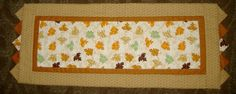 Table Runner  Quilted Autumn Leaves by AStitchinTime72 on Etsy, $28.00