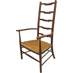 Fine, hard wood ladder back chairs were typically found in the provincial homes of English country gentry. Description from rubylane.com. I searched for this on bing.com/images
