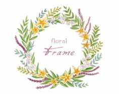 Watercolor Floral Wreath ClipArt Watercolor by PassionPNGcreation