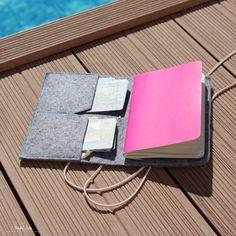 Diy Mode, Travel Accessories, Diy Crafts, Couture, Scrapbooking, Felt, Notes, Journal, Cartonnage